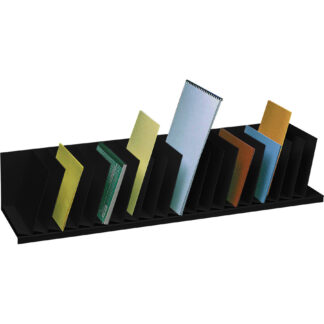 """Paperflow Inclined Vertical Organizer, 44"""" W, Black"""