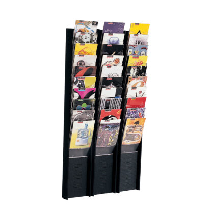 Paperflow EPI Wall Display, 10 Compartments, Letter, Black