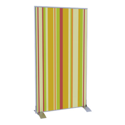 Paperflow easyScreen Vertical Divider Screen, Yellow Green and Red Vertical Stripe