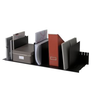 """Paperflow easyOffice Individualized Vertical Organizer, 33-3/4"""" W, Black"""