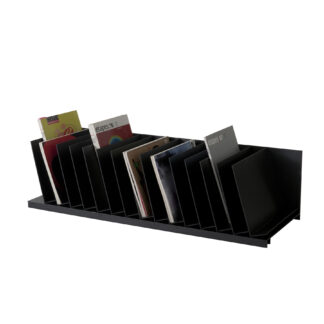 "Paperflow easyOffice Inclined Fifteen Separator Organizer, 33-3/4"" W, Black"