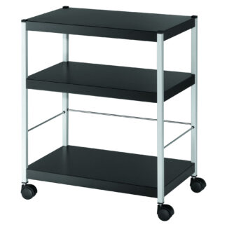 "Paperflow Heavy-duty Three Shelf ""M"" Multi-Purpose Trolley"