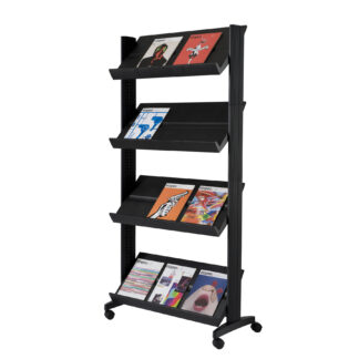 Paperflow easyDisplay Single Sided XL Literature Display, Black