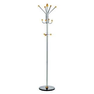 ALCO Ridge Coat Rack/Stand with Four Double Pegs with Three Knobs
