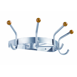 ALCO Metal Wall Coat & Hat Rack with Four Double Pegs