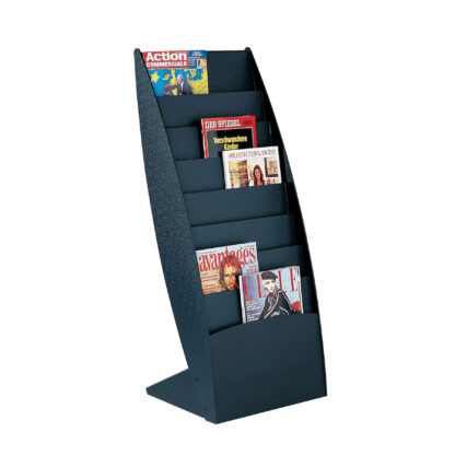 Paperflow Ovo Curved Floor Literature Display, Black