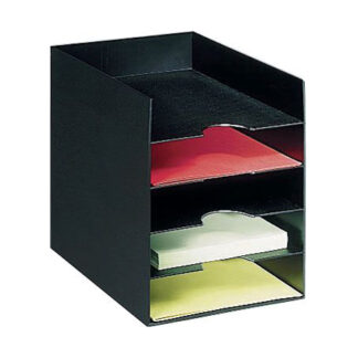 "Paperflow Horizontal Organizer, 10-1/6"" W, Black"