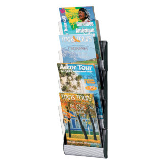 Paperflow Maxi System Wall Mounted Literature Display, Four Pockets, Letter