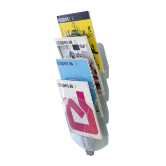 Paperflow Vertebro Literature Display, Four Compartments, Letter