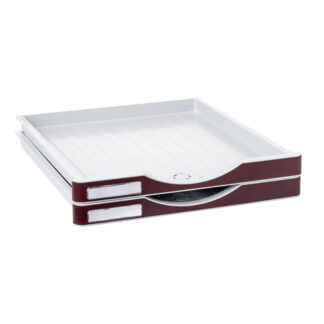 Archivo 2000 ArchivoDoc Small Size Drawers Grey/Burgundy 2 Pack