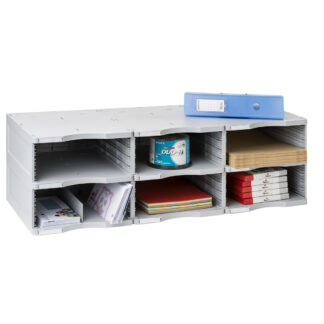 Archivo 2000 ArchivoDoc Trio Jumbo Literature & Forms Sorting Station with Six Compartments