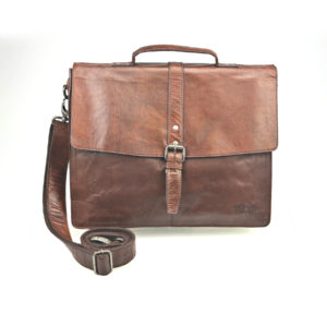 Pride & Soul Jayden Leather Businessbag With Carrying Straps