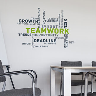 "Paperflow Office Deco Wall Transfers, Teamwork 25"" x 18"""