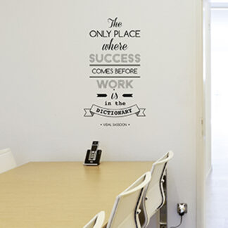 "Paperflow Office Deco Wall Transfers, The only place where success …15"" x 26"""