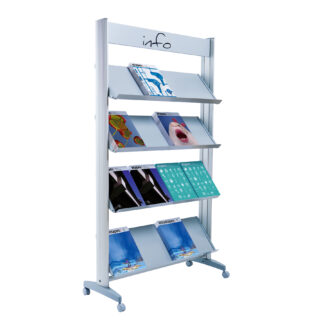 "Paperflow Single Sided ""XL"" Literature Display, Metal Shelves"