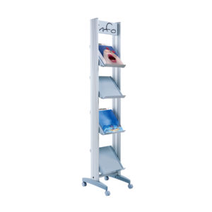 "Paperflow Single Sided ""S"" Literature Display, Metal Shelves"