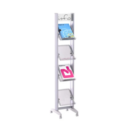 """Paperflow Single Sided """"S"""" Literature Display, Acrylic Shelves"""