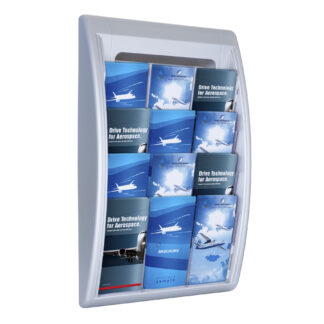 Paperflow Quick Fit Systems Wall Mounted Literature Display, Four Pockets, 1/3Letter x3