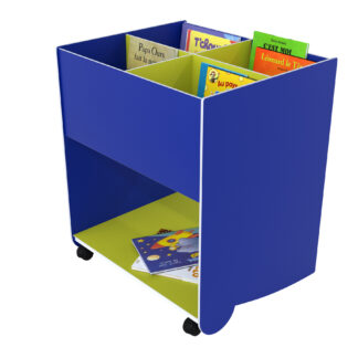 "Paperflow Mobile Floor ""XL"" 4 Section Book Browser Blue/Green"