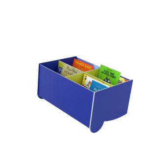 "Paperflow Floor ""S"" 4 Section Inclined Book Browser Blue/Green"