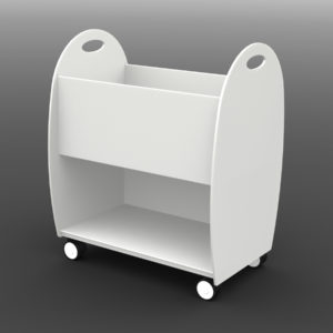 "Paperflow Mobile Floor ""XL"" Multi -functional Organizer Cart White"