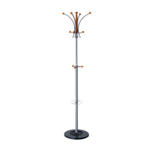 BOUQUET Coat Rack/Stand with Four Double Pegs with Three Knobs