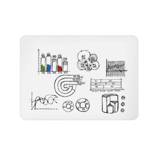 Rocada Rolled Polypropylene Whiteboard 35.5'' x 47'' 5pk